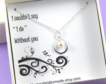 Bridesmaid Gift, Be My Bridesmaid Gift Boxed Necklace Bridesmaid Gift, Bridesmaid Invitation, Maid Of Honor, Be My Bridesmaid
