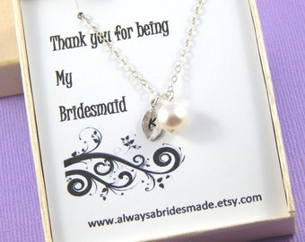 Bridesmaids Necklace,Bridesmaids Gift,Gift Boxed Jewelry, Bridesmaids Necklace Gift, Personalized Bridesmaids Gift, Choose Your Color
