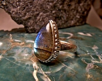 Sterling Silver Ring with Amorite Stone RF145