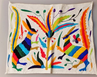 Unique Otomi Embroidered Table Cloth- Mexican Handmade with love - Home Decor
