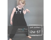Sugar n Spice dress and romper pattern and tutorial PDF 12m-5T  tunic dress jumper playsuit easy sew