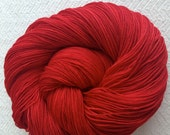 Hand Dyed Sock Yarn Captain Blood Red Hand Painted sockyarn 463 yards hand dyed Crimson Maroon fingering weight Treasured Toes