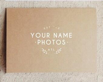 Photography Logo Design - Photographer Logos - Wedding Photographer Branding - Digital Photoshop Templates - Design by Bittersweet
