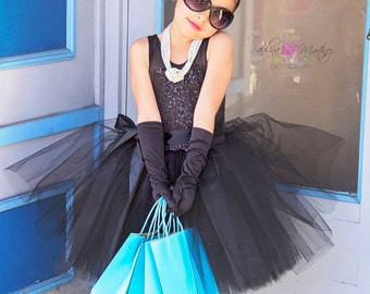 Breakfast at Tiffany's tutu dress costume size 6 custom handmade