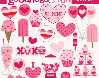 Buy 2, Get 1 FREE - My Sweet Valentine's Day Valentine Clipart - Digital Valentine's Day Clipart - Instant Download