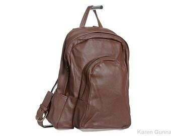 Leather Backpack-Knapsack-Laptop-Travel Bag-Rucksack- The  Dakota Backpack