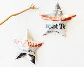 Arizona Southern Style Tea Stars, Ornaments, Soda Can, Upcycled