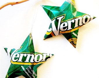 Vernors Ginger Ale Soda Stars Aluminum Can Upcycled