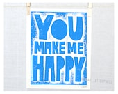 You Make Me Happy, Baby Wall Art, Mother's Day Gift, Country Home Decor, My Sunshine, Mothers Day, Kitchen wall art, Nursery art, playroom