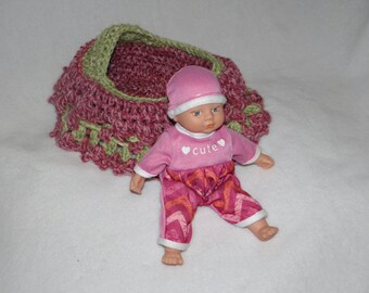 Baby Doll Cradle Purse Set - Pink and Green