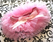 Sale -PINK TUTU BLOOMER ruffles all the way around,Chiffon Baby Bloomer, Diaper cover, photo prop, newborn bloomer  -ready to ship-