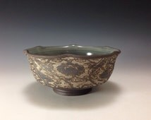 """Noodle bowl, with Turkish pattern (approximate diameter 7.25"""")"""