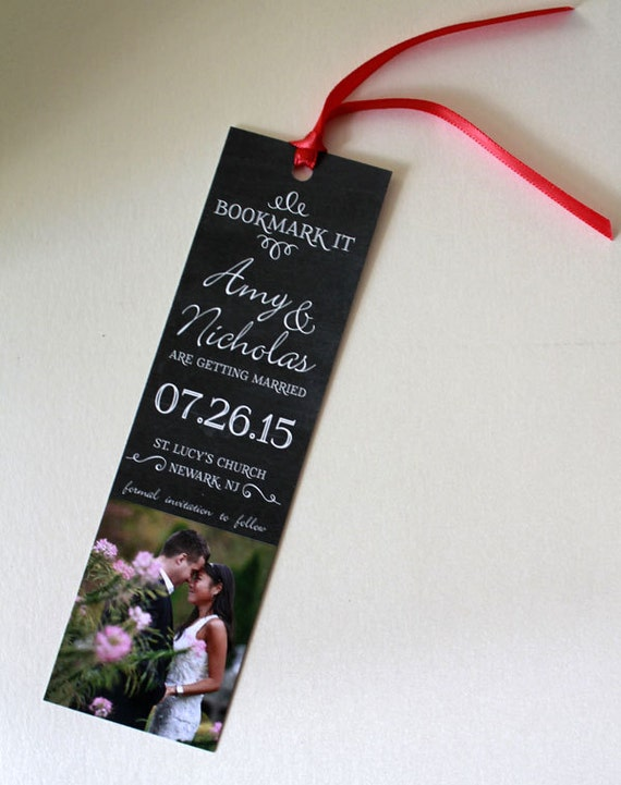 bookmark save the date, save the date bookmarks, chalkboard save the date, save the date, bookmark,