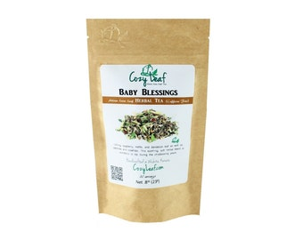 Baby Blessings for the Childbearing years Organic Loose Leaf Herbal Tea by Cozy Leaf