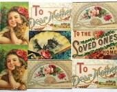 8 Reprinted Victorian Postcards