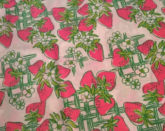 Lilly Strawberry fabric