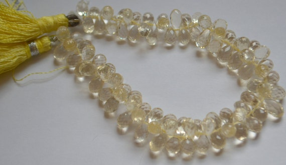 oregon sunstone faceted briolettes half strand from