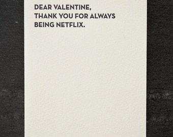 netflix. letterpress card. #902