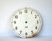 Vintage Metal Clock Face Large IBM