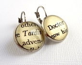 Dr Who Earrings, Silver Earrings, Geek Girl Gift Idea, Fandom Gift, Book Earrings, Sci Fi Jewellery, Under 25,