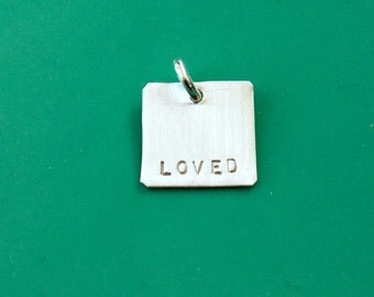 Additional Sterling Silver Square, Add On to Necklace