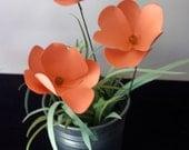 Mini Potted Fluttering Hearts Paper Flower Garden Arrangement, Paper Flowers, Home Decor, Handmade Flowers, Table Decor, Wedding Decoration