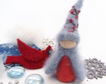 WInter Berry Peg Doll and Snowflake Playset, Box of Seasonal Treasures