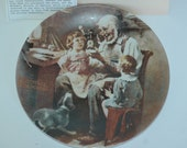1977 Norman Rockwell The Toy Maker Plate with Certificate of Authenticity and box