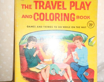 coloring book 1960's The Travel Play and Coloring book