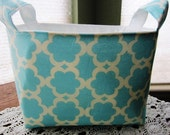 Organizer Storage Basket Bin Container Fabric - Kumari Garden Tarika Blue