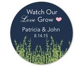 Personalized Wedding Stickers - Custom Labels - Watch Our Love Grow - Favor Stickers - Wedding Favor Labels - Custom Favor Stickers - Love