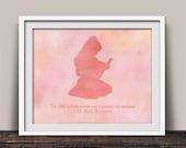 Maria Montessori Quote Fine Art Print for School, Educational Professional, Teacher, Home School