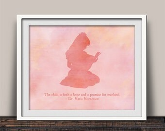 Montessori - Hope and Promise for Mankind - Classroom Wall Art - Gift Idea for Teacher - Classroom Wall Decor - Print Made in the USA