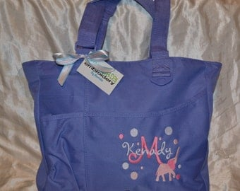 Personalized Baby Diaper bag  Navy, or Blue bag lots of design options