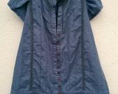 Girl's Vintage Style Dress Age 4 Blue Grey