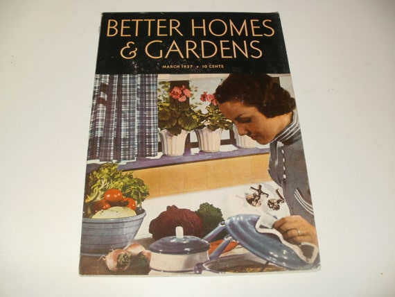 Vintage better homes and gardens magazine march by kennyscrafts March better homes and gardens