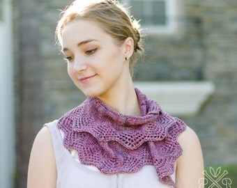 Battenburg Lace Scarf PDF Knitting Pattern Instant Download