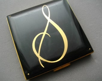 Compacts Vintage Monogram S Fifth Rex Avenue Accessories Collectible Lucite Initial S
