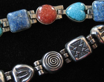 Reversible Sterling Silver Bracelet with 2 Completely Different Looks