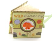 Dinosaur Adventure Mini Photo Book, 2x3 wallets - orange, green brown