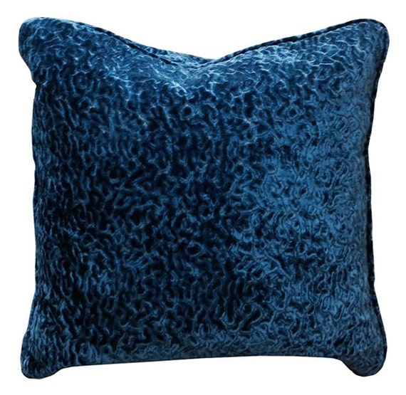 Blue Velvet Throw Pillows : Navy Blue Velvet pillow Decorative pillow by SPCustomDrapery