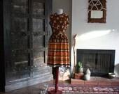groovy floral Shady Lane 60s sleeveless day dress