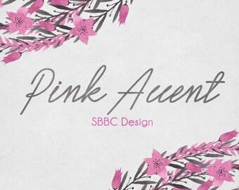 OOAK Etsy Shop Banner Set, Premade Design - Pink Floral