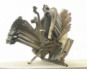 Salvaged Vintage Typewriter Heart Striker