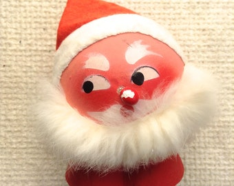 Vintage Candy Container. West German Santa Paper Mache.  Christmas decoration.    Xmas.   Made in West Germany.
