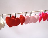 Heart Ornaments / Valentine's Day Decorations / Red and Pink Hearts