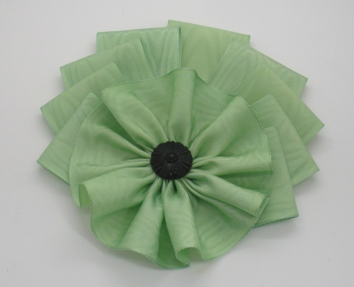 art deco moire millinery cocarde applique from. Black Bedroom Furniture Sets. Home Design Ideas