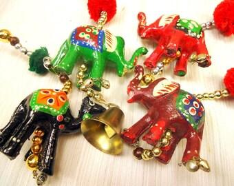 Set Of Four Vintage Wood Hand Carved Ornaments