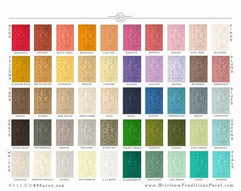 Sale Chalk Type Paint HTP by Heirloom Traditions- 50 Colors!- Quart Furniture HTP