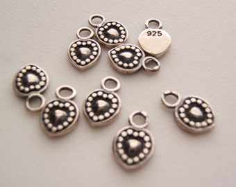 Sterling Silver Sweet Tiny Heart -  Charms or Dangles